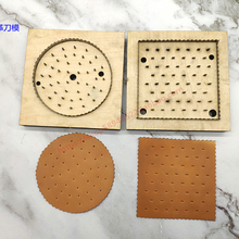 Wooden Die Die-Cutter Template Coaster Biscuits Steel-Blade Knife-Mould Hand-Punch Craft