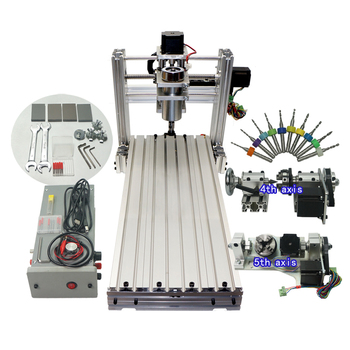 Mini CNC Machine DIY 6020 Metal CNC Router Engraver USB 400w Spindle Iron Wood Pcb Carving Machine for  Jewellery 1
