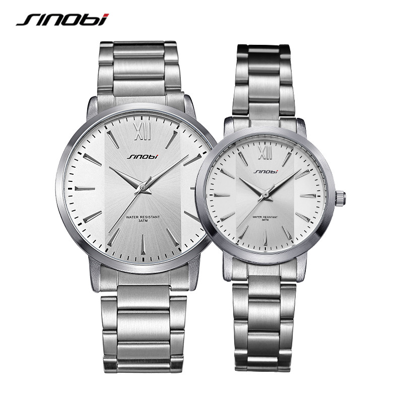 Couple Watches 2020 Luxury Brand Quartz Wristwatches Waterproof Steel Watches Men Simple Wrist Lover Clock For Woman Man Watch