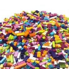 Quente 1000 peças blocos de construção cidade diy tijolos criativos a granel modelo figuras educativos crianças brinquedos compatíveis todas as marcas