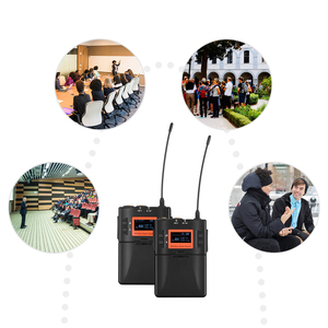 Image 5 - אלחוטי Lavalier מיקרופון מערכת UHF 60 ערוצים אחד משדר אחד מקלט עבור DSLR מצלמה Smartphone מחשב Tablet הקלטה