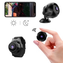 HD 1080p Night Vision Small Micro Video Watch Mini Camera Wifi IP Cam Body Secret With Motion Sensor Tiny Microcamera Minicamera