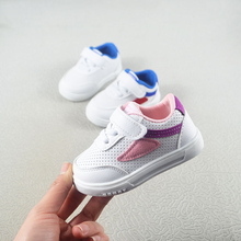 Spring and Autumn Baby Shoes 2019 Leisure Soft-soled Small White Shoes Anti-skid Korean Version Fashion Baby Walking Shoes цена