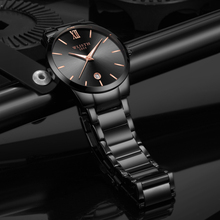 Business Quartz Calendar Luminous display Men Steel Belt Factory supply Wholesale Student quartz wrist clock