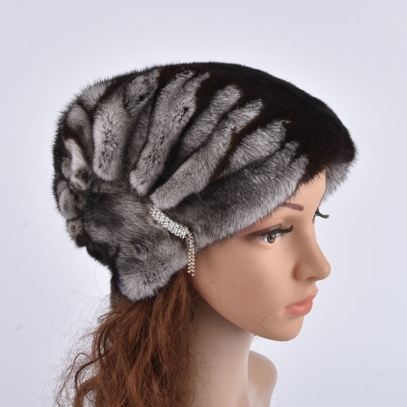 Whole Real Mink Fur Hats for Women's Luxury Fashion High Quality Cap New Arrival keep Warm In Russian Winter lady Fur Hat(China)