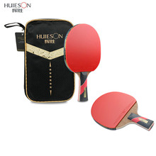 Huieson 6 Star Table Tennis Racket Wood & Carbon Fiber Blade Sticky Pimples-in Rubber Super Powerful Ping Pong Racket Bat Paddle(China)