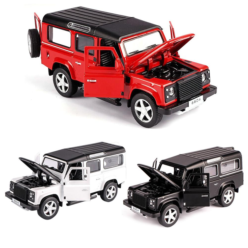 Kids Toys 1/32 Children Model Toy Car For Land Rover Defender Alloy Model Car Acousto-optic Pull-back Car Toy
