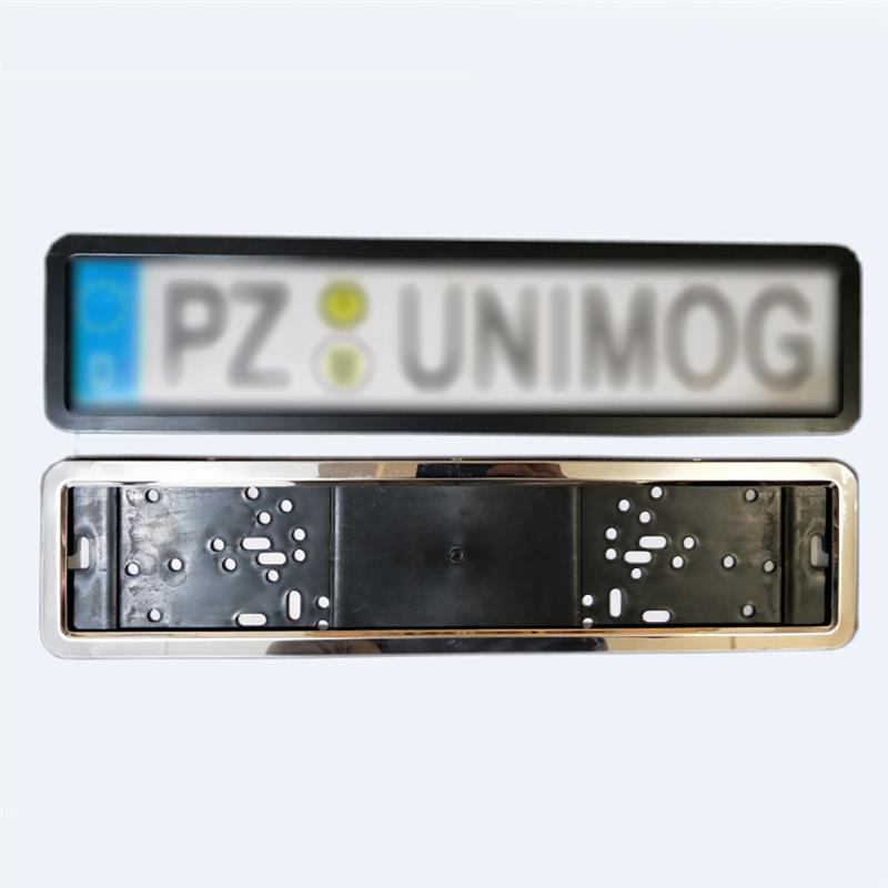 1 Set Car License Plate Frame Number Plate Holder Stainless Steel With 8 Security Pins European German Russian 8K Premium