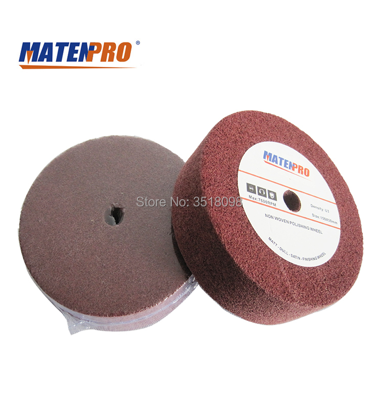 6 Inch Nonwoven Polishing Wheel, Fast Heat Dispelling, No Black Discoloration, Abrasion-resistant
