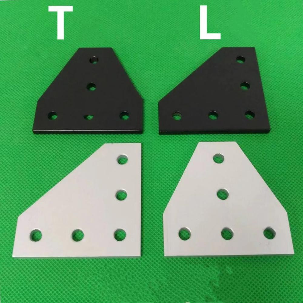 5 / 7 Holes L Type <font><b>2020</b></font> 3030 4040 4545 Connection Plate <font><b>Corner</b></font> Bracket Joint Board For Aluminium Profiles image