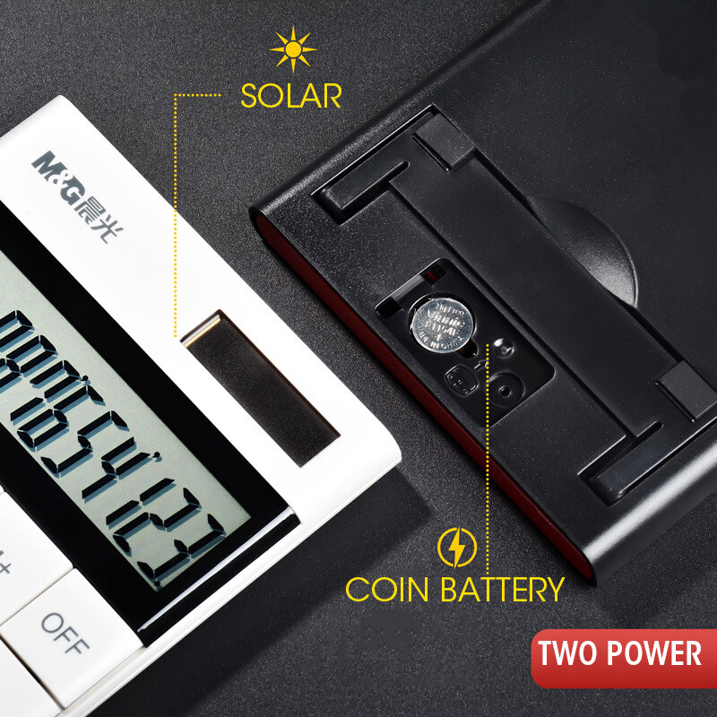 12-digit Modern Calculator Dual Power M&G Color Caculator Cute Small Solar Calculators Scientic Calculater School Exam