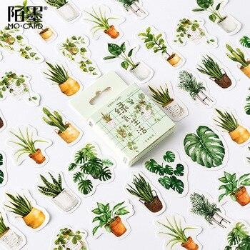 La vida verde Kawaii lindo Memo Pad cuadros y líneas nota pegajoso papel papelería planificador pegatinas cuadernos Oficina escuela suministros