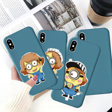 Leuke Film Cartoon Man Maid Kostuum Silicone Soft Shell Telefoon Case Voor Iphone 11 Pro Xs Max X Xr 7 8 6 Plus Geel Telefoon Cover(China)