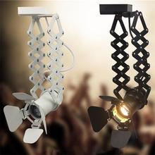 Ретро светодиодный светильник 5 Вт E27 Лофт промышленный рельсовый светильник s магазин обуви Iluminacao Внутреннее освещение Регулируемый Светодиодный точечный светильник