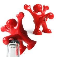 Novo homem vermelho abridor de vinho criativo novidade engraçado cozinha barra ferramenta divertido abridor de presente de natal abridor presentes para cozinha