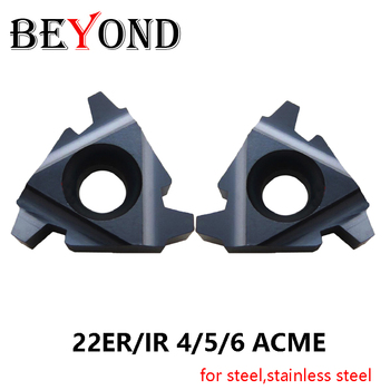 BEYOND 22ER 22IR 4 5 6 ACME BBM18 4ACME 5ACME 6ACME Carbide Threading Inserts Turning Tools CNC Lathe Cutter for Steel Stainless