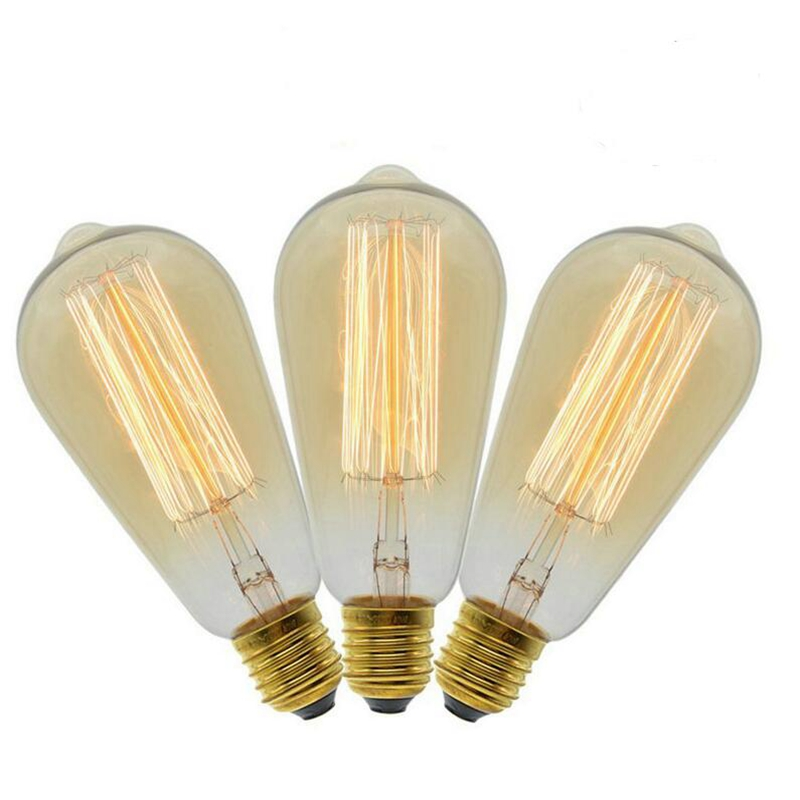 Edison Lamps Carbon Filament Clear Glass's Edison Retro Vintage Incandescent Bulb Novelty Lighting