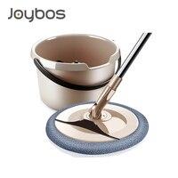 JOYBOS-mopa doméstica mágica y automática con cubo, mopa de microfibra con mango ajustable, herramientas de limpieza para el hogar, mopa para suelo Lazy Fellow JBS7