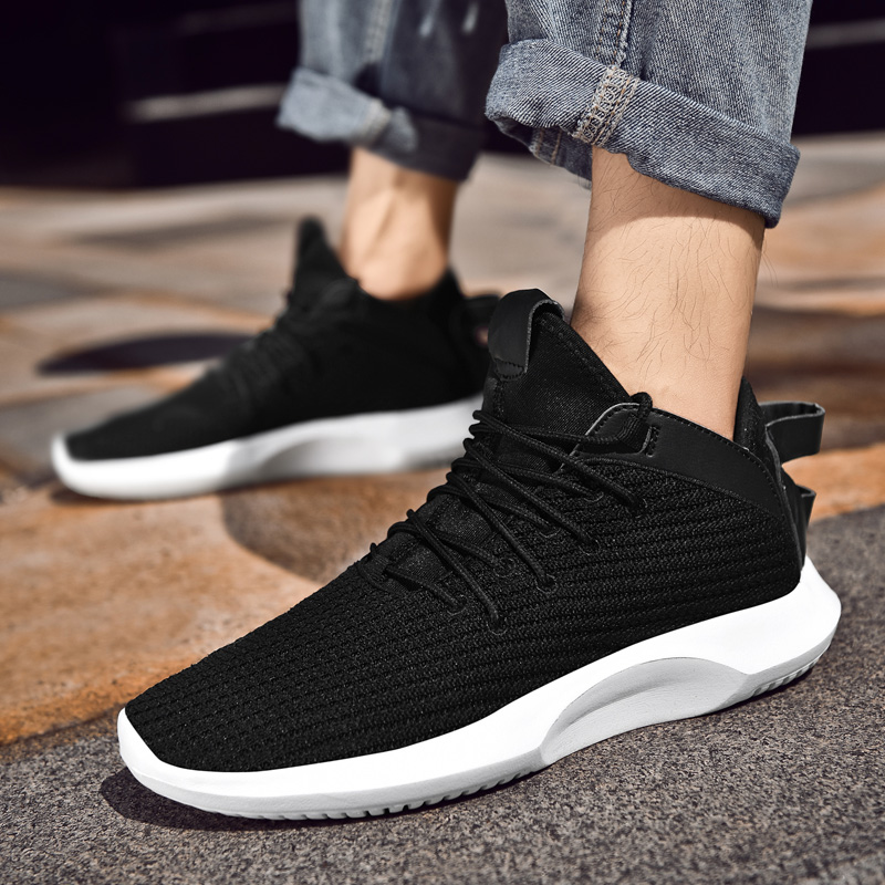 2020 New Men Shoes Lightweight And Breathable  Sneakers For Men  Zapatillas Hombre Flyknit High Quality Red Men's  Casual Shoes