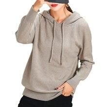 Pull à capuche en cachemire pour femme, tricoté, étudiant coréen, collection automne-hiver 2020