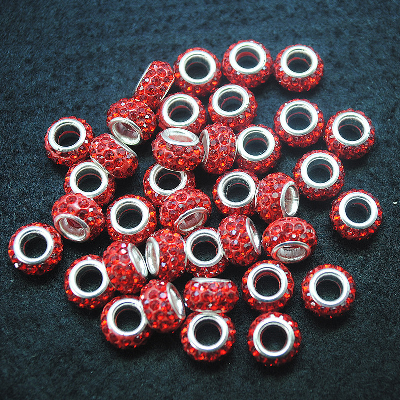 100pcs rhinestone beads for women bracelets making 7x12mm inner hole 5mm good selling items with best wholesale price matching b image