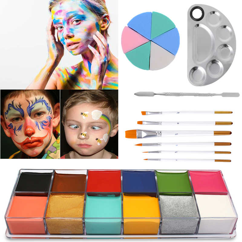 2020 Carnival Facial Body Art Paints Set Tattoo Halloween Makeup Stage Show Fancy Ball Children Festival Performances Pigment Aliexpress