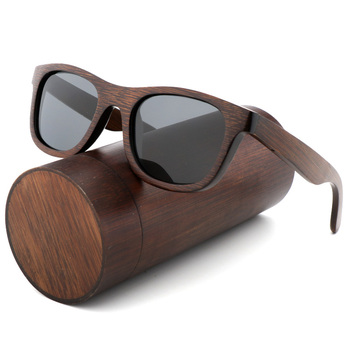 luxury  Polarized Zebra Vintage Bamboo Wood Sunglasses 1