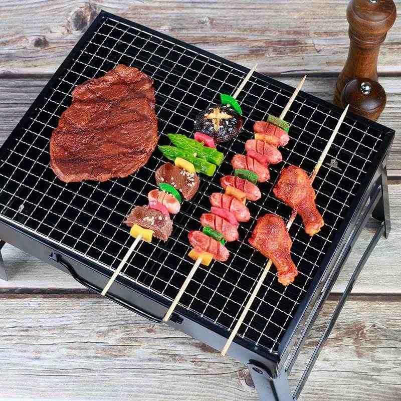 Pequeño barbacoa parrilla plegable portátil de carbón de leña al aire libre Camping Picnic quemador foldablecarbón Camping barbacoa horno