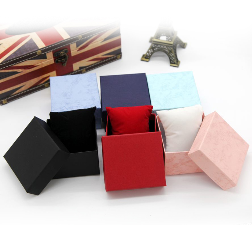 Watch Box Jewelry Wrist Watch Durable Hard Case Square Gift Box For Bracelet Bangle Boxes Gift Box Storage Box