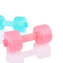 Água halter halters corpo construção gewicht halteres fitness ginásio cruz ajuste yoga para treinamento esporte plástico oefening
