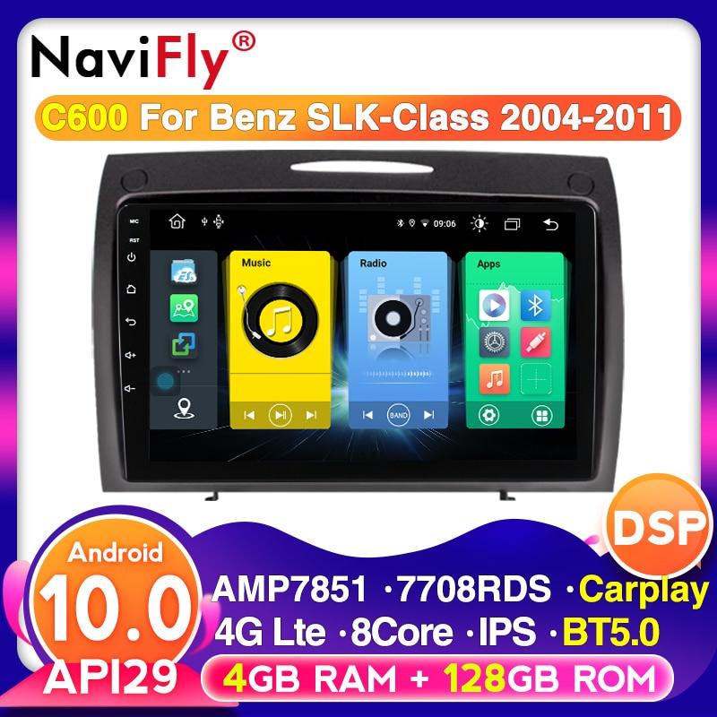 Navegação multimídia do carro para mercedes benz slk r171 w171 r171 slk200 android 10 autoradio gps bt5.0 embutido carplay