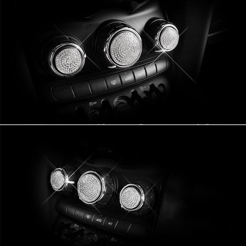 Para BMW MINI COOPER F54 F55 F56 F60 CLUBMAN Carro ar condicionado botão de ajuste decoração adesivo de Carro Car styling acessórios 3pcs