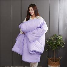 Удобные зимние 100% шелк тутового шелкопряда одеяло белый розовый