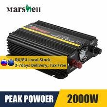 Pure Sine Wave Inverter DC 12V To AC 110V/220V 1000W Max 2000W Voltage Transformer Power Converter Solar Car Inverter