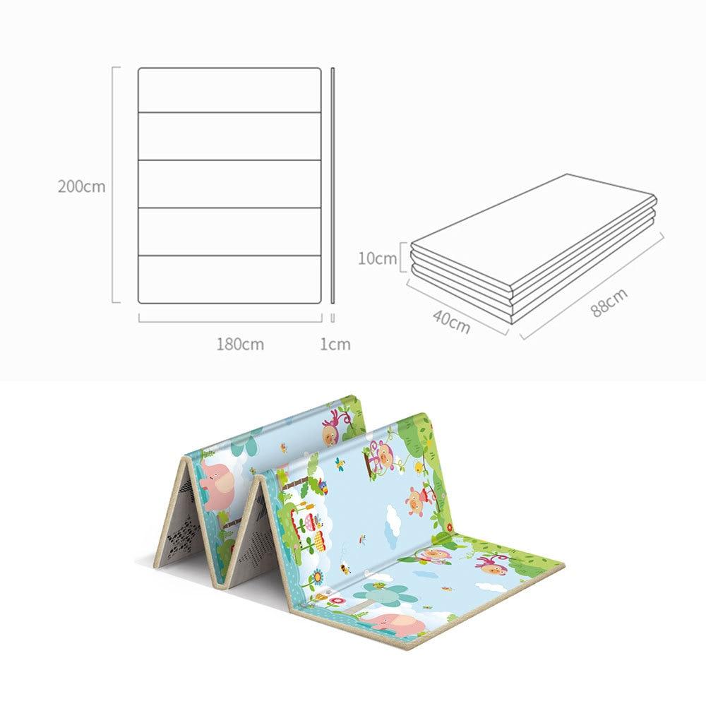 Tapis de jeu anti-dérapant pour bébé enfants tapis de jeu Puzzle pliant tapis de jeu tapis de jeu en mousse souple tapis rampant matelas de jeu tapis de jeu d'activité bébé - 5