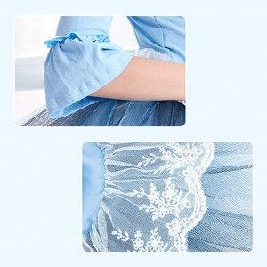 Image 5 - Ballet Tutu Dress Girl Children 3/4 Long Sleeve Performance Tutu Ballet Dance Dress