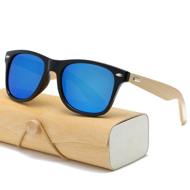 17 color Wood Sunglasses Men women square bamboo Women for women men Mirror Sun Glasses retro de sol masculino 2018 Handmade 1