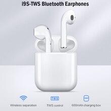 I9s Tws Наушники Беспроводные Bluetooth 5,0 наушники мини наушники с микрофоном зарядная коробка спортивная Гарнитура для смартфона