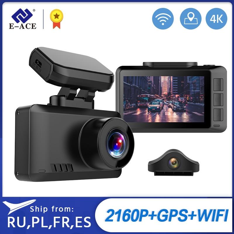 E ACE B44 Car Camera 4K Dash Cam GPS Track WiFi Car DVR Dashcam Sony IMX335 Sensor Night Vision Recorder|DVR/Dash Camera|   - AliExpress