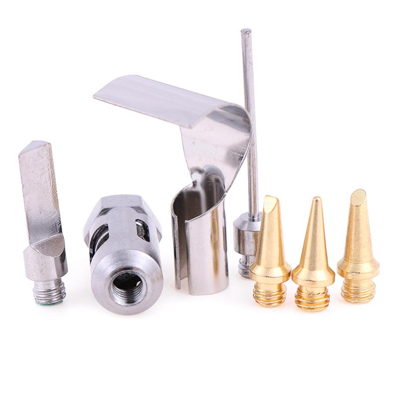 Gas Soldering Iron Head Pointed Horseshoe Knife Hair Core Gas Soldering Iron Accessories High Temperature Resistance