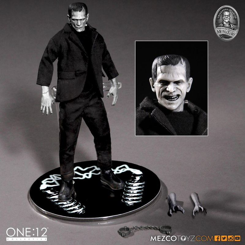 16cm Mezco Toys Mary Shelley's Frankenstein One:12 PVC Action Figure Toy Horror Halloween Gift image