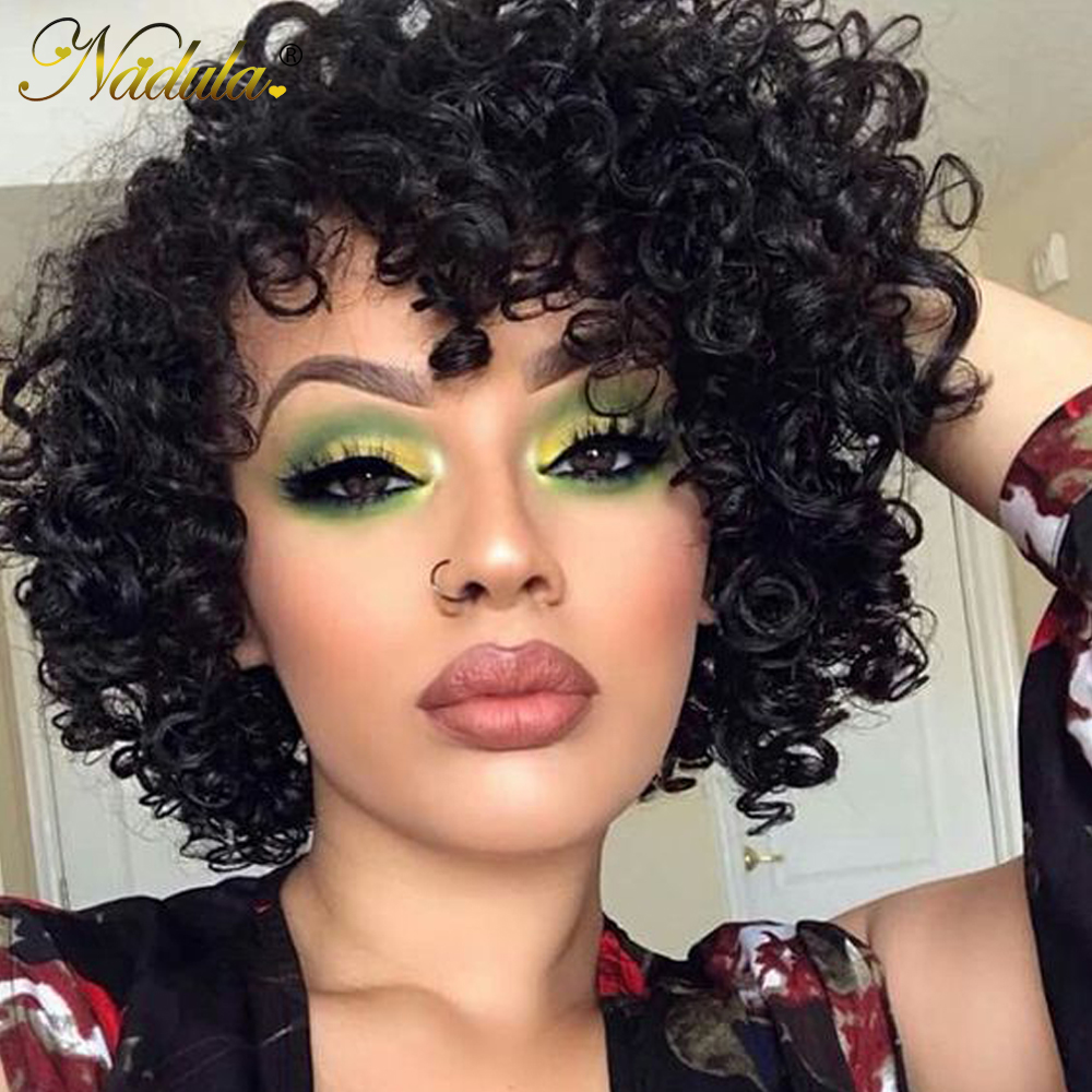 Nadula Hair Short Lace  Wigs  Deep Wave  Wigs   Hair Wigs #1 #2 #4 Natural Color 1