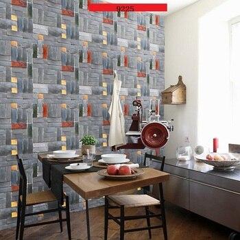 3D Brick Wallpaper-Paper brick 10m waterproof self-adhesive PVC papel de parede for wall papers decor фото