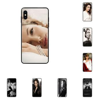Soft Case Accessories For Xiaomi Redmi Note 4 5 5A 6 7 8 8T 9 9S Pro Max Beauty Maleficent Angelina Jolie image