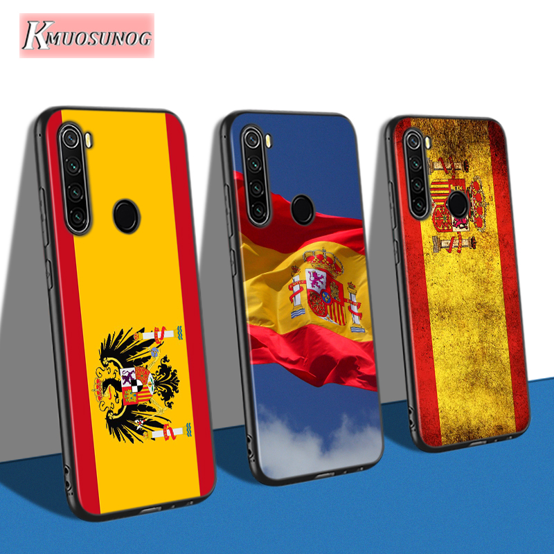 Spanish Spain Flag for Xiaomi Redmi Note 8T 8 7 6 Pro Back Shell for Redmi Note 5 Pro 5A 4 4X Phone Case