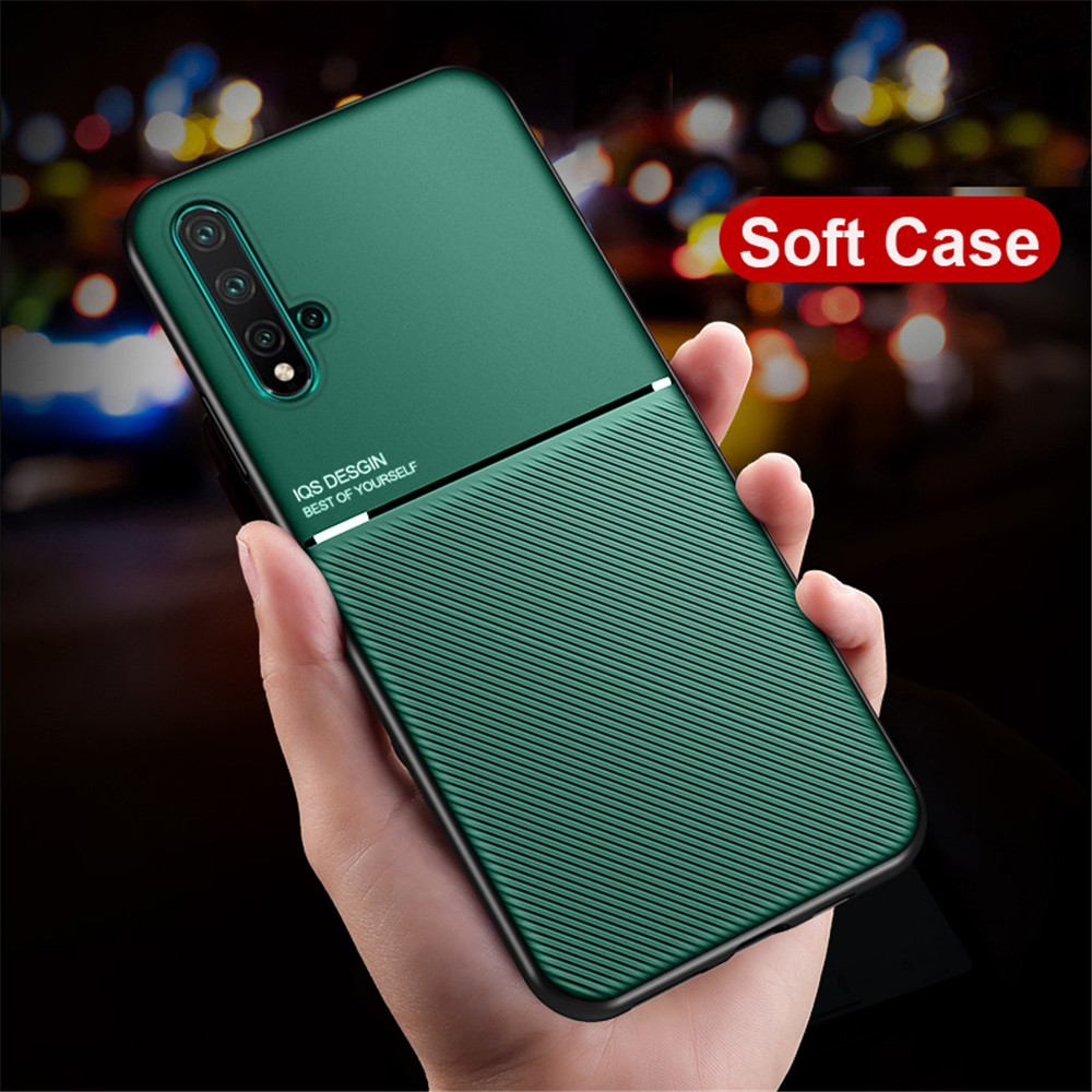 MAKAVO For Huawei Honor 20 Pro Case Matte PU Back Cover Soft Slicone Frame Phone Case For Huawei Honor 20 20S View 20