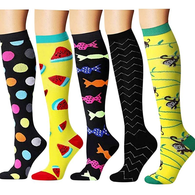 Compression Socks Men Women Fit Running,Nurses,Flight Travel&Maternity Pregnancy -Boost Stamina, Executive Length Fancies Socks