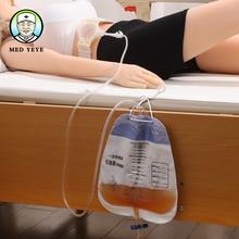 Мешок для мочи 1500 мл большая емкость для людей с ограниченными возможностями и прикованных к кровати людей с катетерным зажимом легко включается и выключается