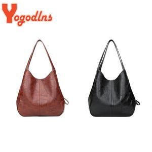 Yogodlns 2 Pcs bolsa de mão feminina do vintage designers bolsas de luxo bolsas de ombro feminino sacos de alça superior bols