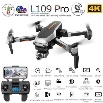 L109 PRO GPS Drone With 2-axis Gimbal Anti-shake Selfstabilizing Wifi FPV 4K Camera Brushless Quadcopter VS SG906 PRO F11 ZEN K1